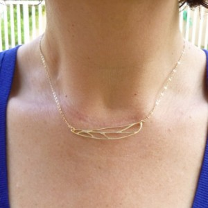 Gold Dragonfly Wing Necklace