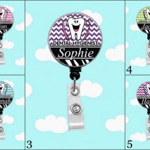 Dental Hygienist Personalized Badge Reel
