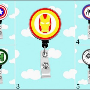 Marvel Comic Badge Reel