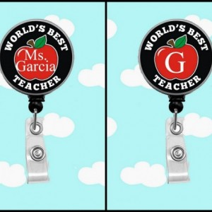 Personalized Badge Reel - Worlds Best Teacher