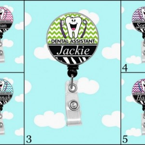 Dental Assistant Badge Reel Personalized