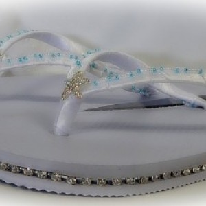 Starfish Wedding Gift Shoes Flip Flop Bridal Flats Sandal Barefoot Ceremony Women Personalized Thong Beach Bridemaid FlowerGirl Gift Jewelry