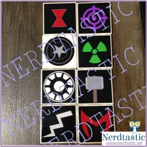 Avengers Superhero Minimalist Symbol Coasters Set of 4