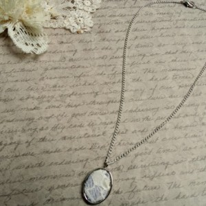 Rustic Lace Jewelry, Ivory Lace Pendant Necklace, Shabby Cottage Chic Necklace, Rustic Bridesmaid Gift, Gift for Her