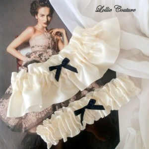 Ivory Wedding Garters French Lingerie Romantic bride to be simple modern bridal garters ivory