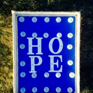 """Lighted """"Hope"""" Marquee(Blue) Sign/Wall Decor (Handcrafted Original)"""