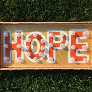 """Marquee """"Hope"""" Sign (+Extension Cord & FREE SHIPPING)"""