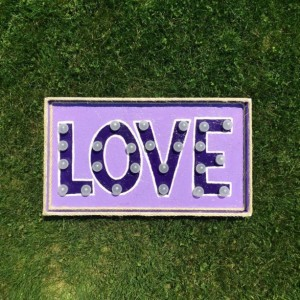 Love Marquee Sign (Purple) Handcrafted Original