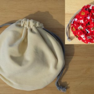 Grand Opening Sale!!!! Butter Cream Velveteen Multi-Pocket Bag with Tossed Dogs on a Red Field