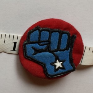 "Grand Opening Sale!!!! Solidarity Fist Pin (2"")"