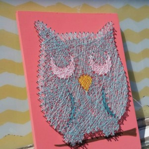 String Art Owl. Custom colors available. Handmade by Nailed It Design. Unique Gift Idea.
