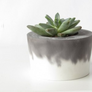 Black and White Concrete Planter || Cement Pot