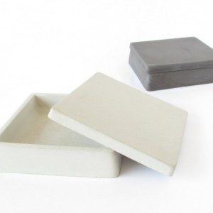 Concrete Trinket Box with Lid || Cement Jewelry Box