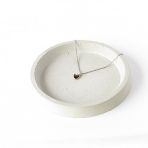 Concrete ring dish    base for planters    catchall    key holder