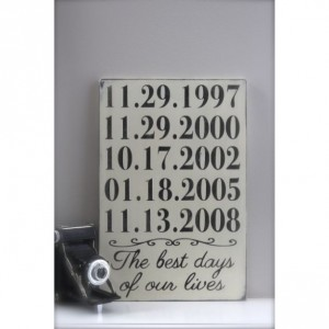 Personalized Important Dates Sign, Mothers Day, Anniversary Date, Birth Dates, Family Sign, Wood Wall Art, Wood Sign, Vintage Sign