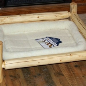 X-Large Handmade Rustic Log Pet Bed - FREE US SHIPPING