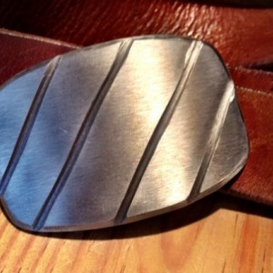 Diagonal Steel Belt Buckle by Cascade Metal Design