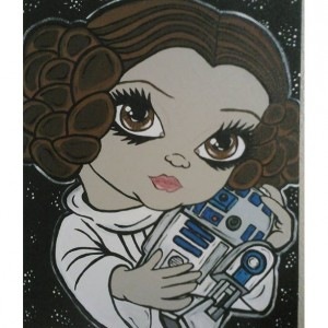 Big Eyed Beauty Princess Leia & R2D2