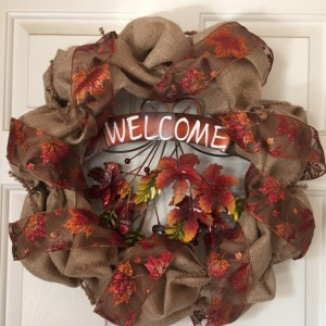 """Welcome"" Leaf Wreath"