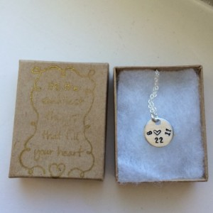 Anniversary necklace on sterling silver chain