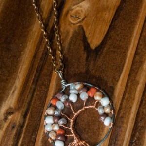 Fall Colors Tree Of Life Necklace