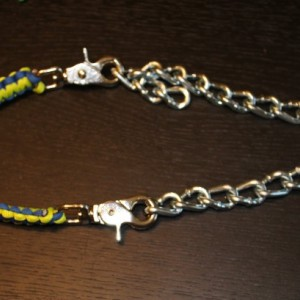 Paracord goat show collar
