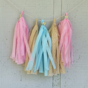 Tissue Tassel Garland for Baby Showers and Nursery