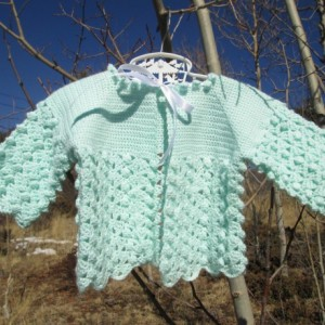 40s Style Mint Green Baby Sweater