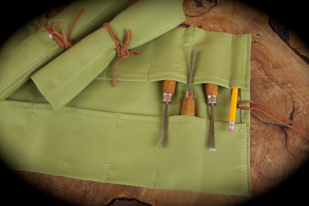 Large Wasabi Canvas Tool Roll