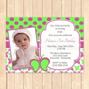 Personalized Little Butterfly Birthday Event Invitation