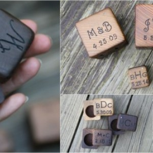 Mini Ring Box Rustic Wood - Personalized Ring Bearer Box- Rustic Wedding Ring Box- Engagement Ring Box