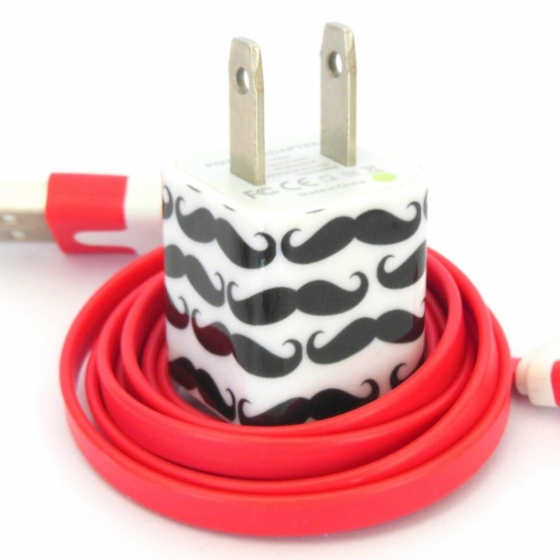Mustache Cell Phone Charger