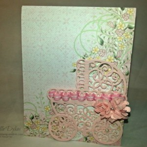 Handmade Baby Carriage Card (set of two)
