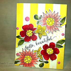 Hello Beautiful (set of two cards)
