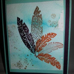 Fall Leaves (set of two cards)