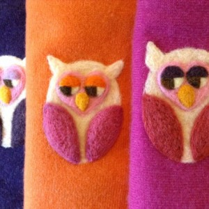 Felted Owl Cashmere Baby Blanket - made to order - you choose colors - heirloom quality made from upcycled cashmere sweaters