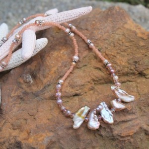 Handcrafted Jewelry - Fresh Water Pearl Pendant Necklace