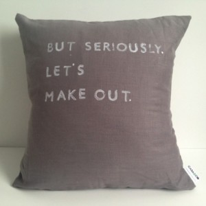 Linen Quote Pillow - But Seriously