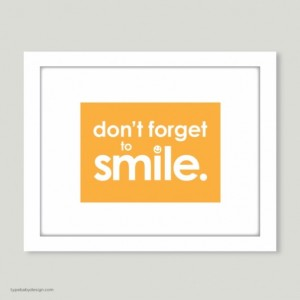 Don't Forget to Smile art print - for nursery or kids room