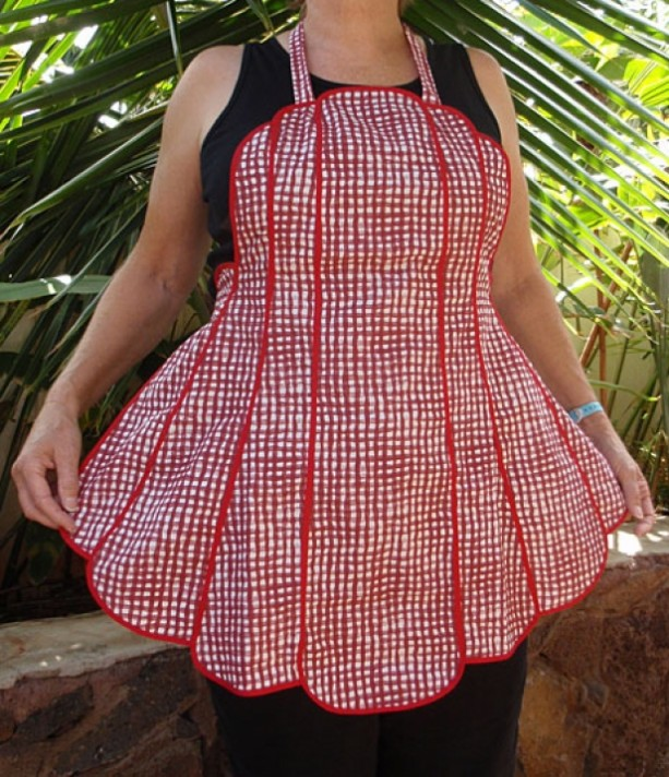 Red Gingham Vintage Style Apron