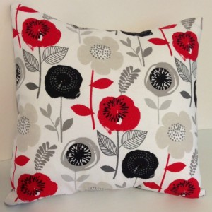 Mid Century Floral Pillow Cover