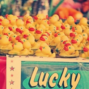 Large Wall Art - Rubber Ducks - 16x20 - Lucky You - fine art print - rubber ducks - carnival art - vintage photography