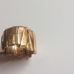 Mix metal custom hand crafted ring 78.00
