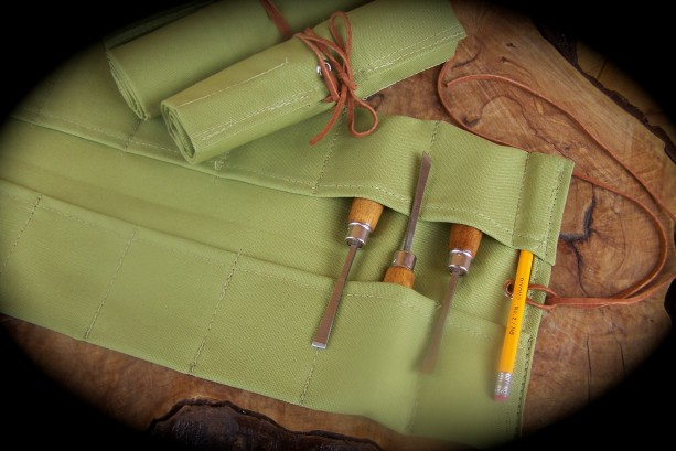 Small Wasabi Canvas Tool Roll