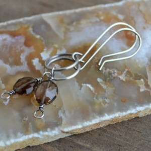 Kismet Sterling Silver & Smoky Quartz Hoop Earrings