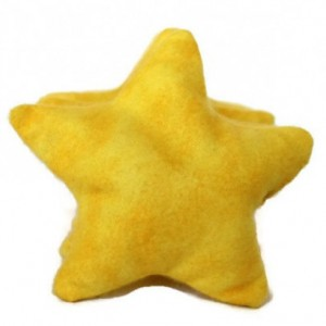 Star Bean Bags Bright Yellow Flannel (Set of 5) Educational Sensory Toys Homeschool (Includes US Shipping)