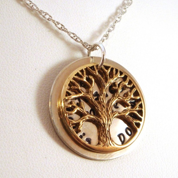 Personalized Tree of Life Family Necklace