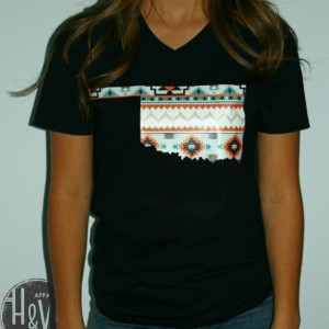 Oklahoma  Tribal Print T-Shirt