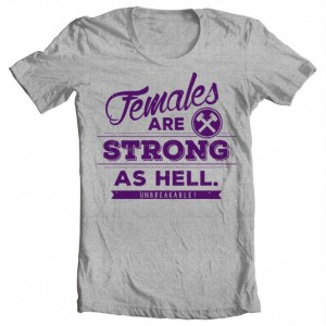 "Boys' Unbreakable Kimmy Schmidt ""Females Are Strong as Hell"" Tee"