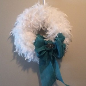 White Feather Wreath